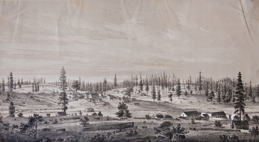 Kuchel & Dresel's California Views, Todd's Valley, Placer County, 1857. Lithograph. $500.